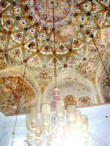 Ceiling decorated with Mughal era paintings