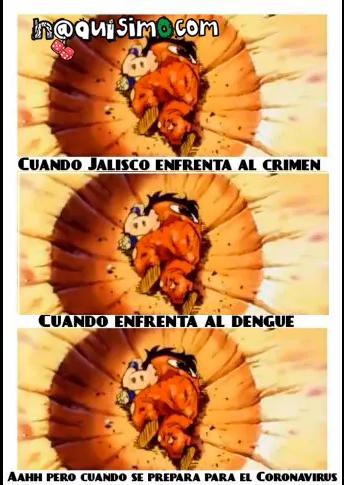 Meme de goku con coronavirus