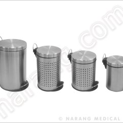 Stainless Kitchen Trash Can Table Sets Under 200 Dust Bin, Bin Step/foot Operated, Steel ...