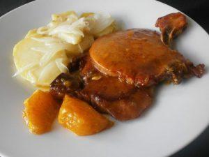 Filetes de cerdo a la naranja