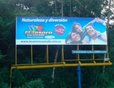 Valla El Tesoro Vía Las Palmas