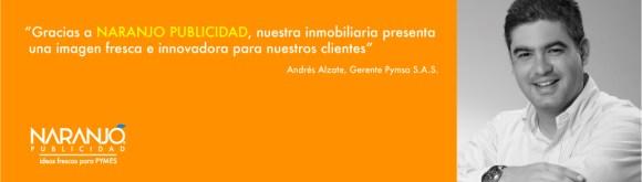 Recomendación Andrés Alzate, Gerente AW Asociados e Inmobiliaria Pymsa
