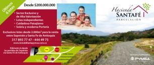 Banner sitio web Hacienda Santafé