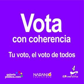 Vota con coherencia