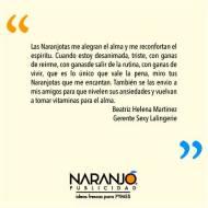 Beatriz Helena Martínez sobre las Naranjotas de Naranjo Publicidad