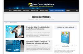 Pantalla Carlos Andres Naranjo en blog de Juan C. Mejía Llano