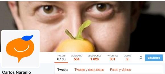 Cuenta de Twitter Carlos Naranjo