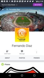 Perfil de Facebook de Fernando Díaz