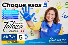 Nuevo afiche campaña Jacqueline Toloza