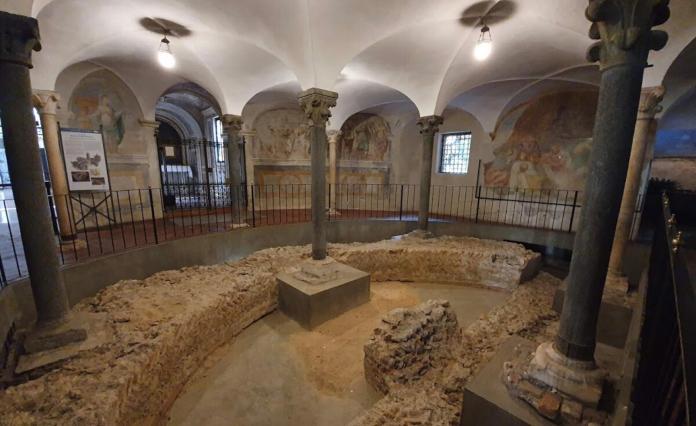 Sant Eustorgio. Zona Absidale Paleocristiana
