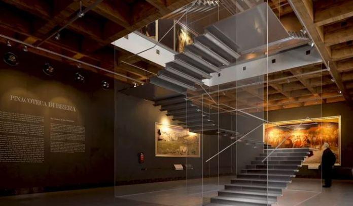 Brera: la nuova scala di Palazzo Citterio