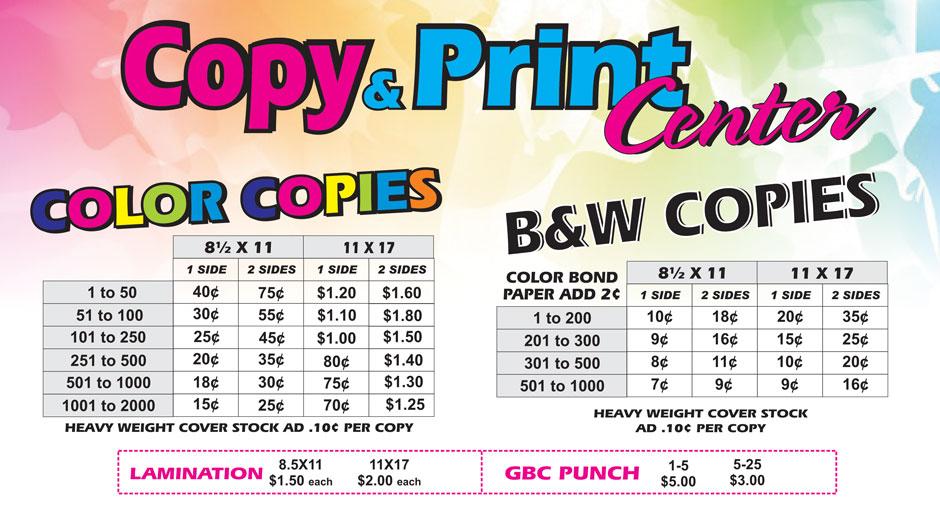 Copy Center – Narcisos Printing Inc.