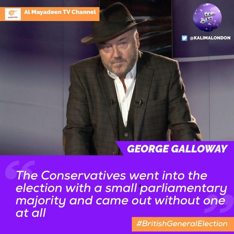 GG Kalima Horra UK-French elections Almayadeen George Galloway Narcissi