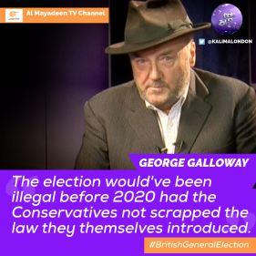 GG2 Kalima Horra UK-French elections Almayadeen George Galloway Narcissi