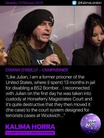 Ciaron O'Reilly on Assange debate - Kalima Horra