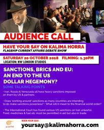 BRICS and EU against sanctions 20 Oct 18