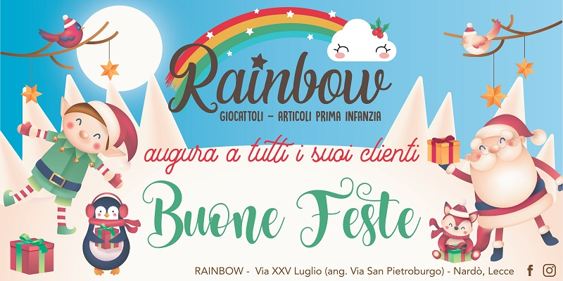 RAINBOW AUGURA A TUTTI I SUOI CLIENTI BUONE FESTE