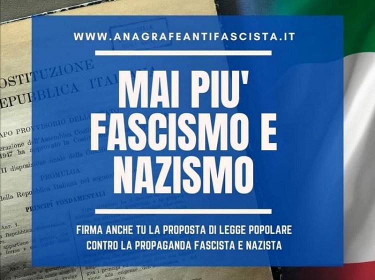 FIRMA ANCHE TU LA PROPOSTA DI LEGGE POPOLARE CONTRO LA PROPAGANDA FASCISTA E NAZISTA