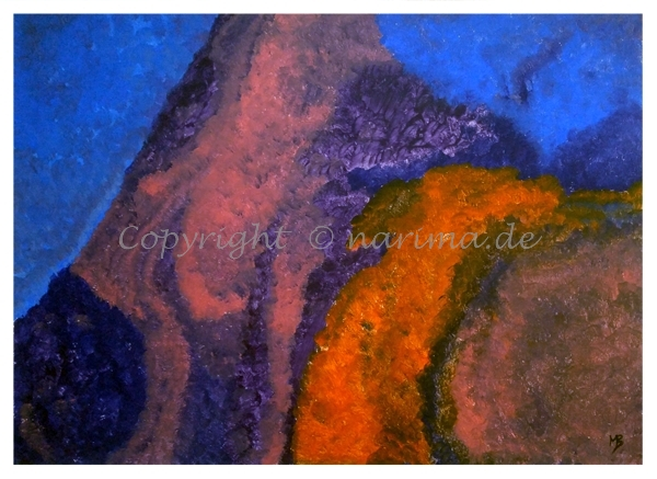 116 - ohne Titel - 2020/06- Original: Acryl auf Vlies - ca. 51 x 70 cm