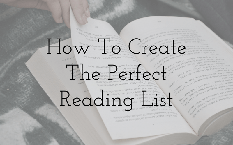 How To Create The Perfect Reading List