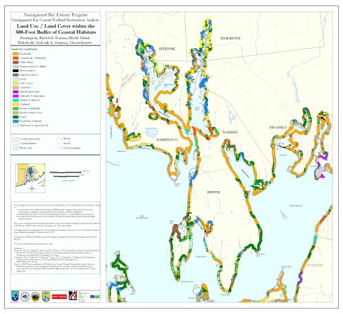 small resolution of land use land cover within the 500 ft buffer of coastal habitats