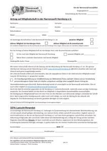 Antrag auf Mitgliedschaft mit Einwilligung