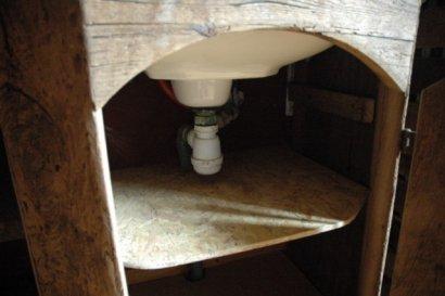 Meuble De Salle De Bain Pour Vasque En Chne Ancien Bross