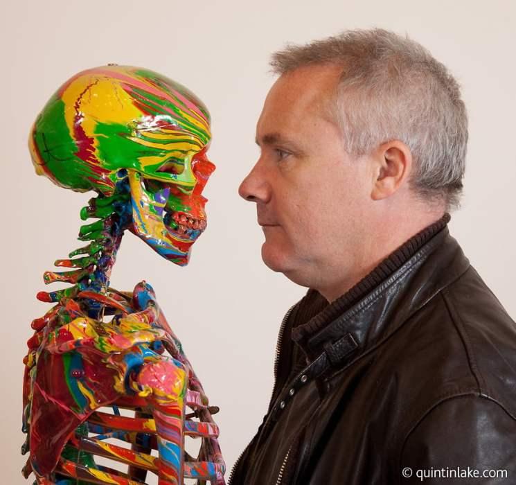 Damien-Hirst-Portrait-In-Studio