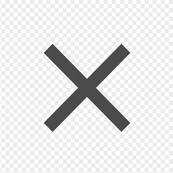 細いバツのアイコン | アイコン素材ダウンロードサイト「icooon-mono」 | 商用利用可能なアイコン素材が無料(フリー)ダウンロードできるサイト