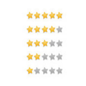 星印星評価星マークスターランクのフリーイラストアイコン