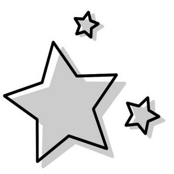 星のアイコンイラスト(白黒) | 無料フリーイラスト素材集【Frame illust】