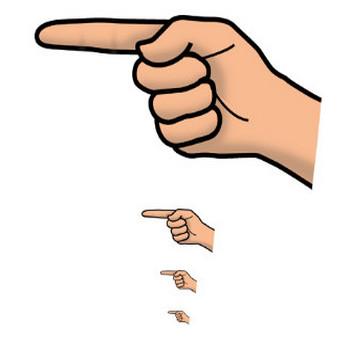 指差し(手) アイコン・イラスト素材素材 Webフリー・無料素材NESOUP