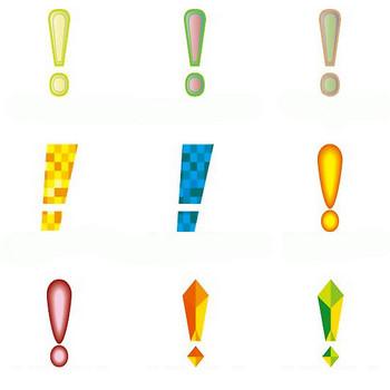イラストポップのマーク素材 | ビックリマークの無料マーク素材