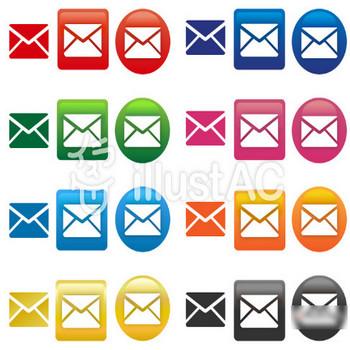 メールマークのアイコンイラスト/無料イラストなら「イラストAC」