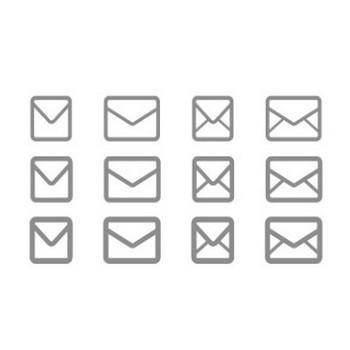 シンプルなメールアイコン素材 | EC design(デザイン)