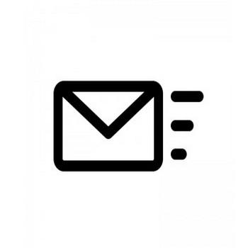 メール送信・受信のシルエット | 無料のAi・PNG白黒シルエットイラスト