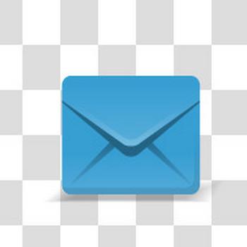 メールのアイコンに最適なフリーイラスト素材(青)