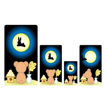 フリー素材・無料イラスト「ふぁんし~・ぱ~つ・しょっぷ」-季節・イベント-秋のイラスト(月見/落ち葉)