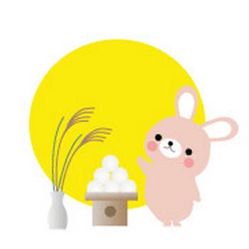 お月見のイラスト-秋の無料イラスト/フリー素材