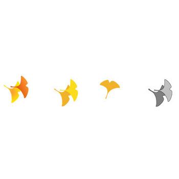 落ち葉・紅葉・(イチョウ)銀杏の秋のイラスト-無料イラスト/フリー素材