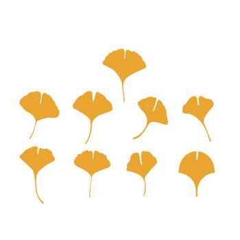 イチョウの葉のベクターデータ | シルエットデザイン