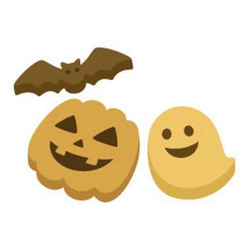 ハロウィンのクッキー - イラスト素材 | 商用利用可のベクターイラスト素材集「ピクト缶」
