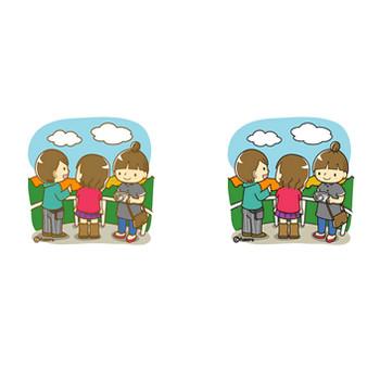 秋のイラスト・クリップアート素材1 | 子供と動物のイラスト屋さん わたなべふみ