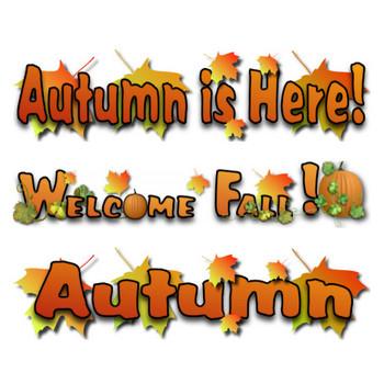 Free Fall - Autumn Clip Art