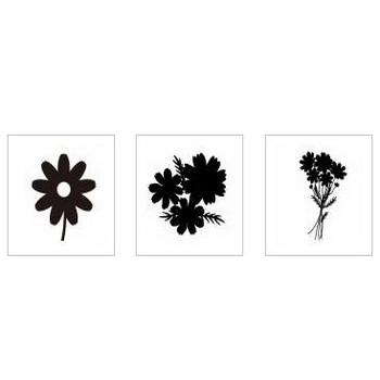 コスモス|シルエット イラストの無料ダウンロードサイト「シルエットAC」