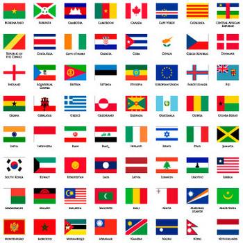 世界の国旗の無料イラスト|AI・EPSの無料イラストレーター素材なら無料イラスト素材.com