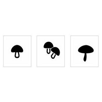 キノコ|シルエット イラストの無料ダウンロードサイト「シルエットAC」