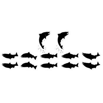 鮭(しゃけ)いろいろ   シルエットデザイン
