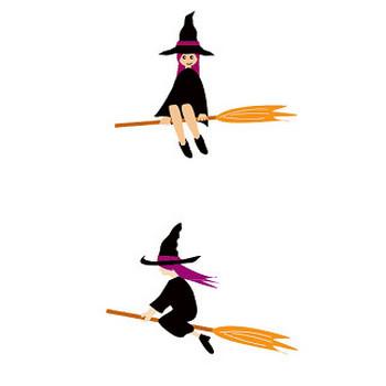 フリー素材、魔女