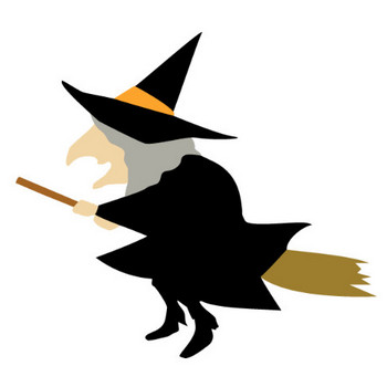 ハロウィンの魔女(魔法使い)のイラスト素材 | 無料フリーイラスト素材集【Frame illust】